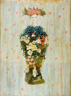 ⊰ Posing with Posies ⊱ paintings & illustrations of women & children with flowers - Anne Siems
