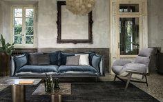 Tendenza arredo 2017 - divano in velluto Arketipo Autoreverse.