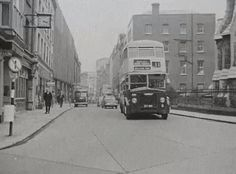 The origins of bus services in Dublin go back to the first horse tram, the Terenure route, in A network of tram routes developed quickly, and the network was electrified between 1898 and St Matthews Church, Saint Matthew, Buses And Trains, Photo Engraving, Dublin City, Dublin Ireland, Old City, Old Photos, Street View