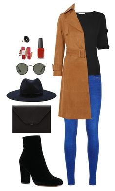 """""""Street style"""" by dalma-m on Polyvore featuring Forever 21, L.K.Bennett, Vince, Ray-Ban, Valextra, Rebecca Minkoff, Kester Black and Andrea Fohrman"""