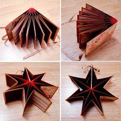 Star Book Mini Scrapbook Album Unique & by UrbanChaosDesigns