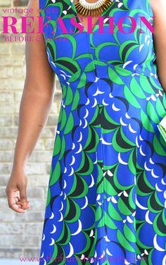 Vintage Maxi Dress Refashion