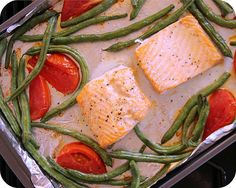 So Tasty So Yummy: Roasted Steelhead Trout with Green Beans and Tomatoes