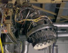 Rocket engine detail, turbine, engine ducts, power, jet engine, YF23, cables, speed from Rocketumblr