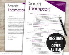 business resume resume template cover letter template professional resume instant download