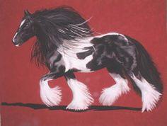 Gypsy Vanner (Fariha's Art) Tags: horses vanner drafthorses petportraits animalportraits commissions wildlifeart pastelpaintings horsepaintings