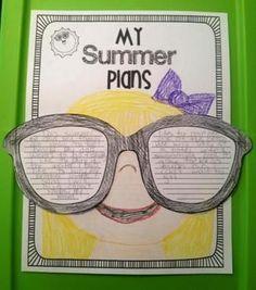 My Summer Plans Writing Craftivity. #WritingResources #Summer