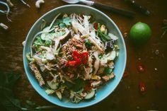 Mushroom noodle salad
