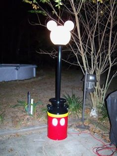 Image result for large plastic mickey head with changing lights
