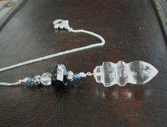 Natural Clear Quartz Onyx and Black Shorl by MariposaStoneWorks