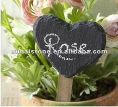 slate heart stone crafts black slate