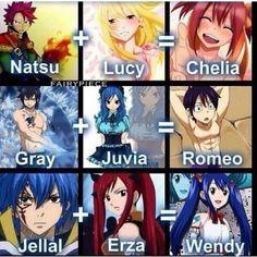 Yup, so true. Natsu + Sherry = Meredy and Laxus + Mira = Sting??