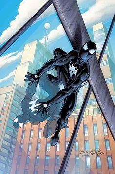 Art Vault - Sensational Spider-Man: Self Improvement by Mark Bagley - Black Spiderman, Amazing Spiderman, Spiderman Kunst, Marvel Comics Art, Marvel Comic Universe, Bd Comics, Marvel Heroes, Marvel Characters, Marvel Marvel