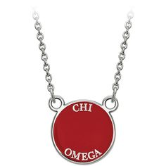 Chi Omega Sorority Extra Small Disc 18 Necklace in Sterling Silver (4.445 RUB) ❤ liked on Polyvore featuring jewelry, necklaces, silver, special occasion jewelry, disc jewelry, round disc necklace, sterling silver jewellery and sterling silver cable chain necklace