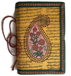 Indian Paisley Art Journal Writing Diary Mustard by IndianJournals
