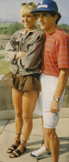 Ayrton Senna - Xuxa, Jacarepagua 1989, at the beginning of their relationship. Xuxa was, in words of family and friends, Ayrton's big love of his life.