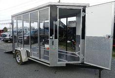 HOT DEAL! CarMate 6 x 10 Enclosed Trailer – See-Through Display Trailer! | trailersuperstore.com