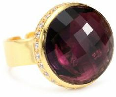 """""""Riviera Collection"""" Pave Round Adjustable Ring #unusualengagementrings"""