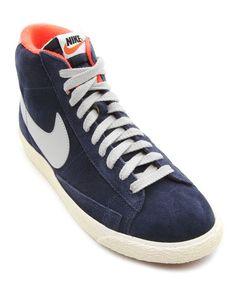 e88ecc4df01 Blazer Navy Suede Sneakers NIKE Suede Sneakers