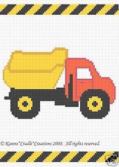 Crochet Patterns Dump Truck Color Graph Afghan Pattern | eBay