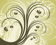 . Vector Flowers, Free Graphics, Swirls, Symbols, Graphic Design, Polyvore, Green, Art, Backgrounds
