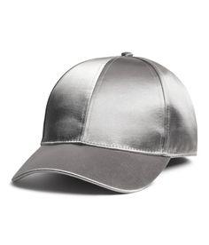 Satijnen pet   Zilverkleurig   Dames   H&M NL