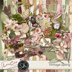 Vintage Spring by #LouCee Creations $5.99