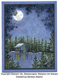 First Snowfall by darleenstamps - Cards and Paper Crafts at Splitcoaststampers