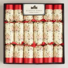 We're excited to introduce our Large Downton Abbey Crackers, featuring exclusive artwork that you won't find anywhere else. Sure to delight fans of the show, these beautifully wrapped crackers bring the tradition to life in truly British form. Pull one end with a friend until it snaps with a cracking sound - inside you'll find fun gifts. Wonderful as stocking stuffers, they also spread cheer to any holiday table setting.