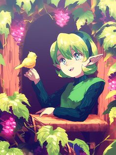 Saria by nakyn The Legend Of Zelda, Legend Of Zelda Characters, Good Old Games, First Video Game, Manga, Hyrule Warriors, Wind Waker, Twilight Princess, Breath Of The Wild