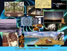 """Ejourneys, who cares for her partner, created this vision board which she calls """"Soul Vision Board."""""""