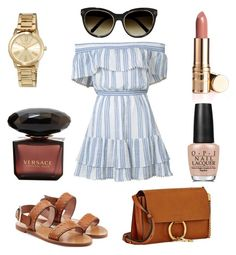 """Summer"" by darnelll ❤ liked on Polyvore featuring LoveShackFancy, RED Valentino, Chloé, MICHAEL Michael Kors and OPI"