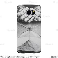 Time hourglass surreal drawing pencil art samsung galaxy s6 cases
