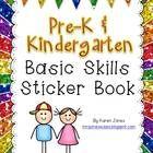Pre-K & Kindergarten Basic Skills Sticker Book