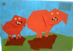 Vouwen: varken