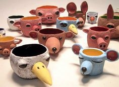DIY pinch pots ideas to try Your Hands On click the image or link for more info. Clay Projects For Kids, Kids Clay, School Art Projects, Clay Pinch Pots, Ceramic Pinch Pots, Ceramic Bowls, Ceramic Art, Ceramic Planters, Ceramic Mugs