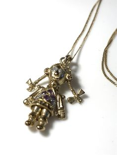 Details about stunning 15ct gold indian design antique ruby flower details about stunning 9ct gold rag doll pendant on 9ct gold chain mozeypictures Images