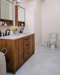 White Motif Hand Painted Summit Bathroom Tiles | Fireclay Tile