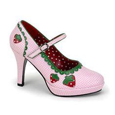 Babypink Erdbeer Pumps