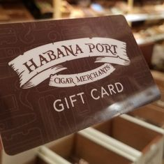 When in doubt a Habana Port gift card makes for a great holiday present.