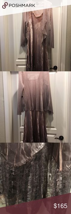 Komarov embellished ombré dress And jacket $438 Brand new with tags from Nordstrom. Size large is a 12-14. Reduced for closet clear out going back up Monday Komarov Dresses Midi