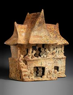 House model, 100 B.C.–A.D. 200. Mexico, Nayarit. Ceramic; 12 x 10 1/4 x 6 3/4 in. (30.5 x 26 x 17.1 cm). The Metropolitan Museum of Art, New York, Gift of Joanne P. Pearson, in memory o