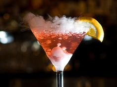 Smoking Cosmo from Mastro's Steakhouse