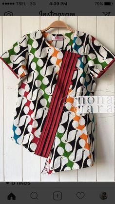Batik Fashion, Stylish Tops, Fashion Dresses, Dress Styles, Casual, Fabric, Blouses, Beauty, Modern