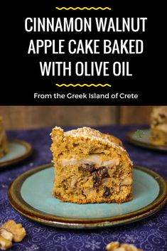 Try this spectacular Cinnamon Walnut Apple Cake Baked with Olive Oil.  It is a spectacular Mediterranean treat. #MediterraneanDiet #HealthyDessert #BakingWithOliveOil Mediterranean Desserts, Mediterranean Diet Meal Plan, Diet Desserts, Healthy Dessert Recipes, Cake Recipes, Icing Recipes, Apple Desserts, Fun Recipes, Desert Recipes