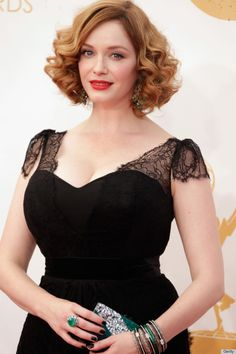 The beautiful Christina Hendricks layered essie's 'stylenomics' with 'skirting the issue' at the 2013 Emmy Awards.