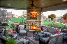 You may actually be able to use your patio every now and then if you wish to. Here are a couple of outdoor patio ideas that will the transition to the winter season Outdoor Fireplace Patio, Outdoor Fireplace Designs, Pergola Patio, Diy Patio, Gazebo, Pergola Kits, Patio Ideas With Fireplace, Outdoor Fireplaces, Outdoor Rooms