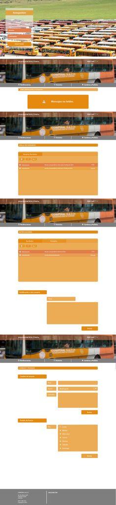 Trabajo freelance para Web-Gráfica. Diseño de interfaz para choferes de CONIFERAL S.A.C.I.F.