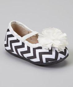 Look what I found on #zulily! Steps by Itzy Bitzy Black & White Zigzag Flower Slip-On Shoe by Steps by Itzy Bitzy #zulilyfinds