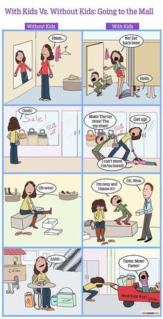 With Kids Vs. Without Kids: Going To The Mall | More LOLs & Funny Stuff for Moms | NickMom